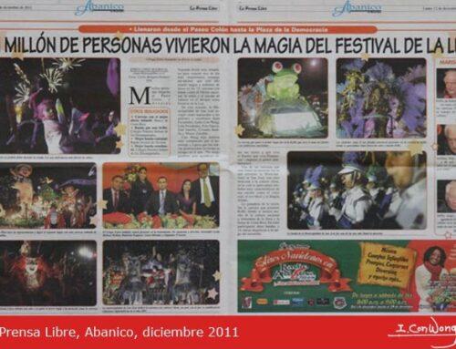La Prensa Libre – Abanico: Un millón de personas vivieron la magia del Festival de la Luz